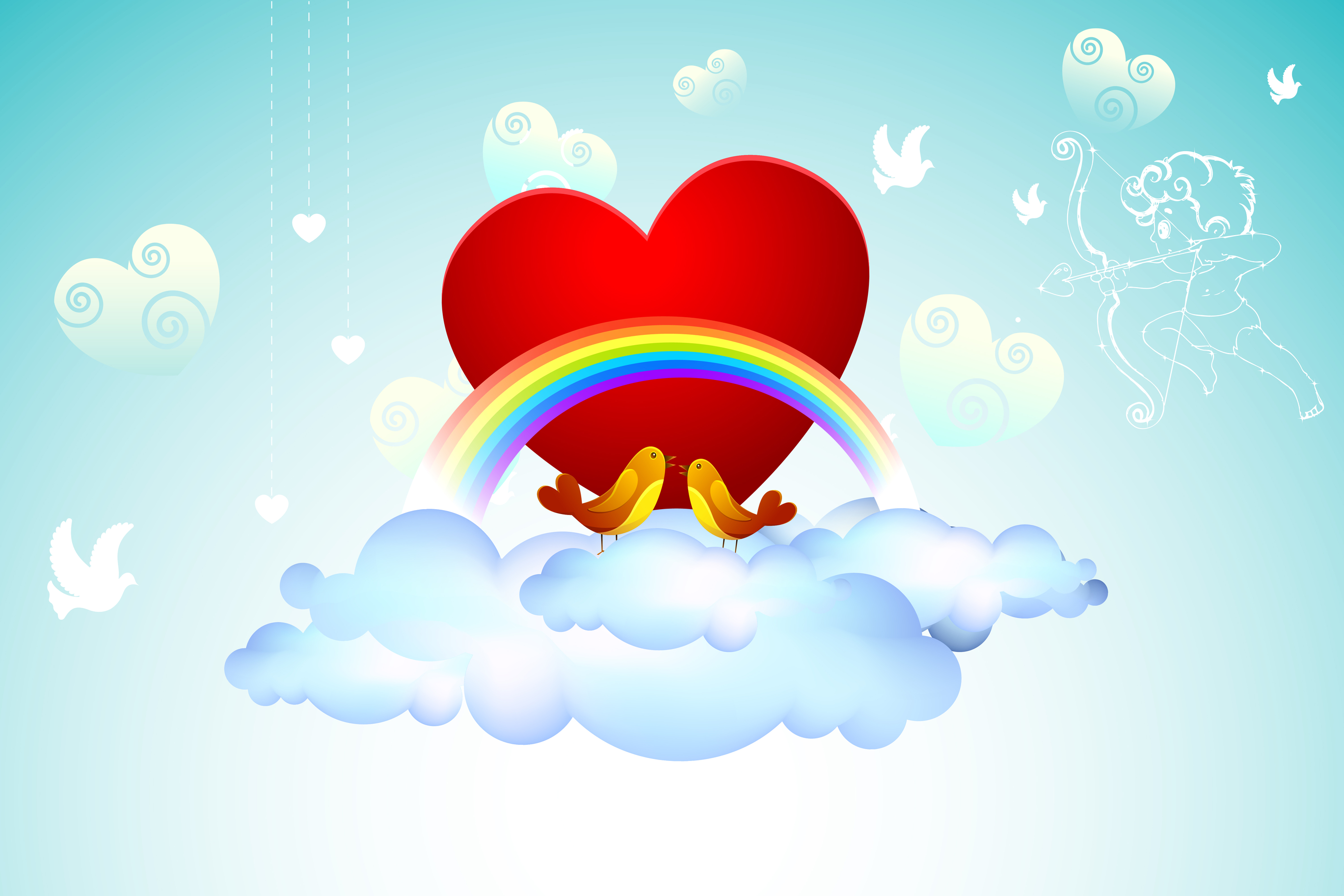 dreamstime l 22778782 Have You Decided Which Cloud Will Be Your Valentine?